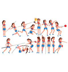Athletics girl player female athletic vector