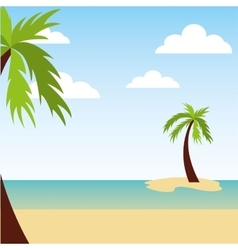 beach landscape background icon vector image