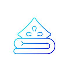 Bed linen gradient linear icon vector
