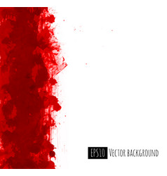 big bright red blood grunge splash on white vector image