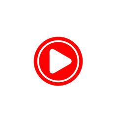 Button play icon logo template design vector