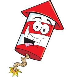 Cartoon smiling firecracker vector
