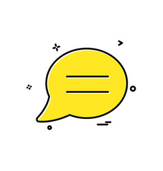 Chat sms comments icon design vector