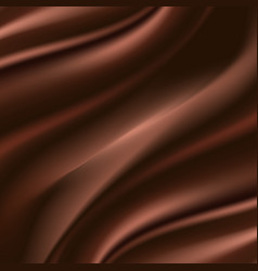 chocolate satin background smooth silk choco vector image