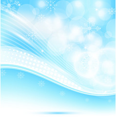 Christmas wavy background with snowflakes vector