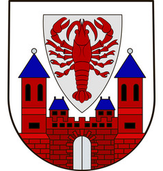 Coat of arms of cottbus in brandenburg germany vector
