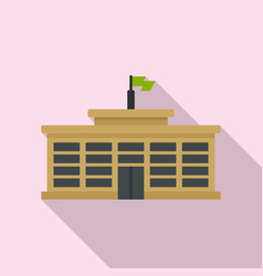 College building icon flat style vector