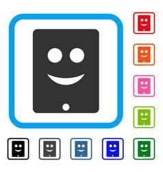 Communicator smile smiley framed icon vector