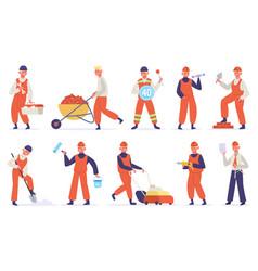 Construction worker technician worker character vector