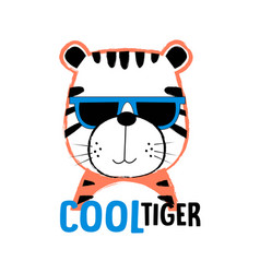 cute tiger for t-shirt design vector image