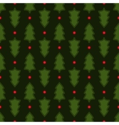 Dark green Christmas fir tree seamless pattern vector image