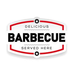 Delicious barbecue vintage sign vector