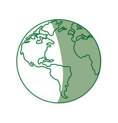 Earth planet sphere vector