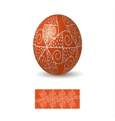 Easter egg with ornament vector image