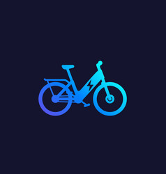 Electric bike electro bicycle ebike icon vector