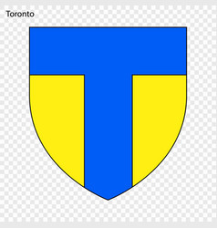 emblem of toronto vector image