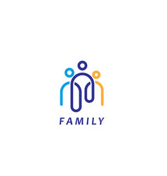 family link logo vector image