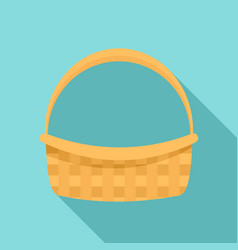 Farm basket icon flat style vector