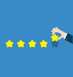 Five star rating selection system custumer review vector