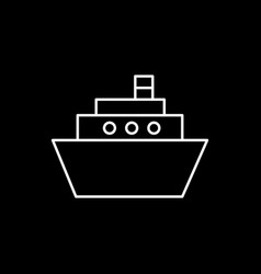flat line ship icon vector image