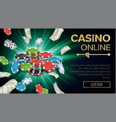 gambling casino banner explosion bright vector image