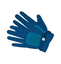 Gloves winter clothes vector