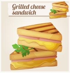Grilled cheese sandwich Detailed icon vector