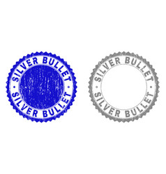 Grunge silver bullet scratched watermarks vector