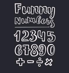 handwritten style numbers vector image