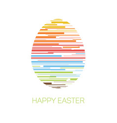 happy easter - minimalist easter card vector image