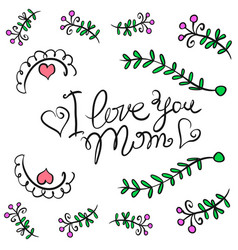happy mother day card style vector image
