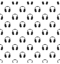 Headphones pattern simple style vector image