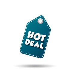 hot deal hang tag label on white background vector image