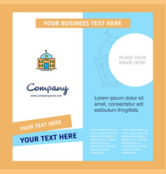 hotel company brochure template busienss template vector image