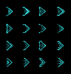 Hud futuristic arrows and navigation pointers vector