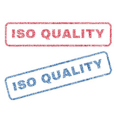 Iso quality textile stamps vector