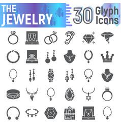 jewelry glyph icon set accessory symbols vector image