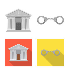 Law and lawyer sign set of vector