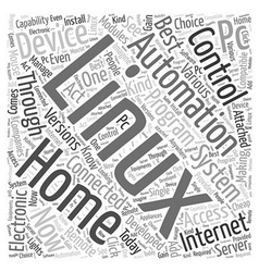 Linux home automation Word Cloud Concept vector