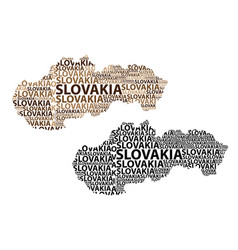 map of slovakia vector image