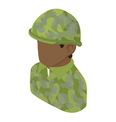 military man african american icon isometric 3d vector image
