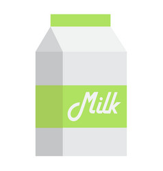 milk flat icon food and drink dairy sign vector image