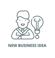 new business idea line icon linear concept vector image