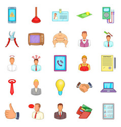 Offer icons set cartoon style vector