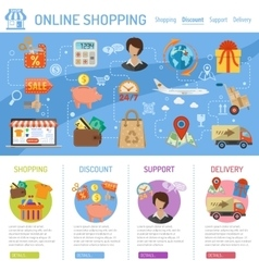 Online Shopping Infographics vector image
