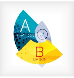 Option infographic presentation layout vector