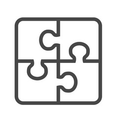 Puzzle thin line icon vector