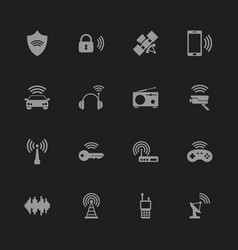 Radio - flat icons vector
