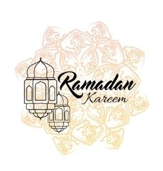 Ramadan kareem and Ramadane vector image