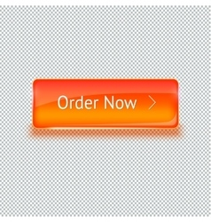Realistic glass button for web interface vector image